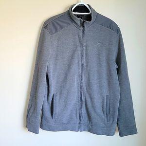 Calvin Klein Grey Fleece Zip Jacket Size M